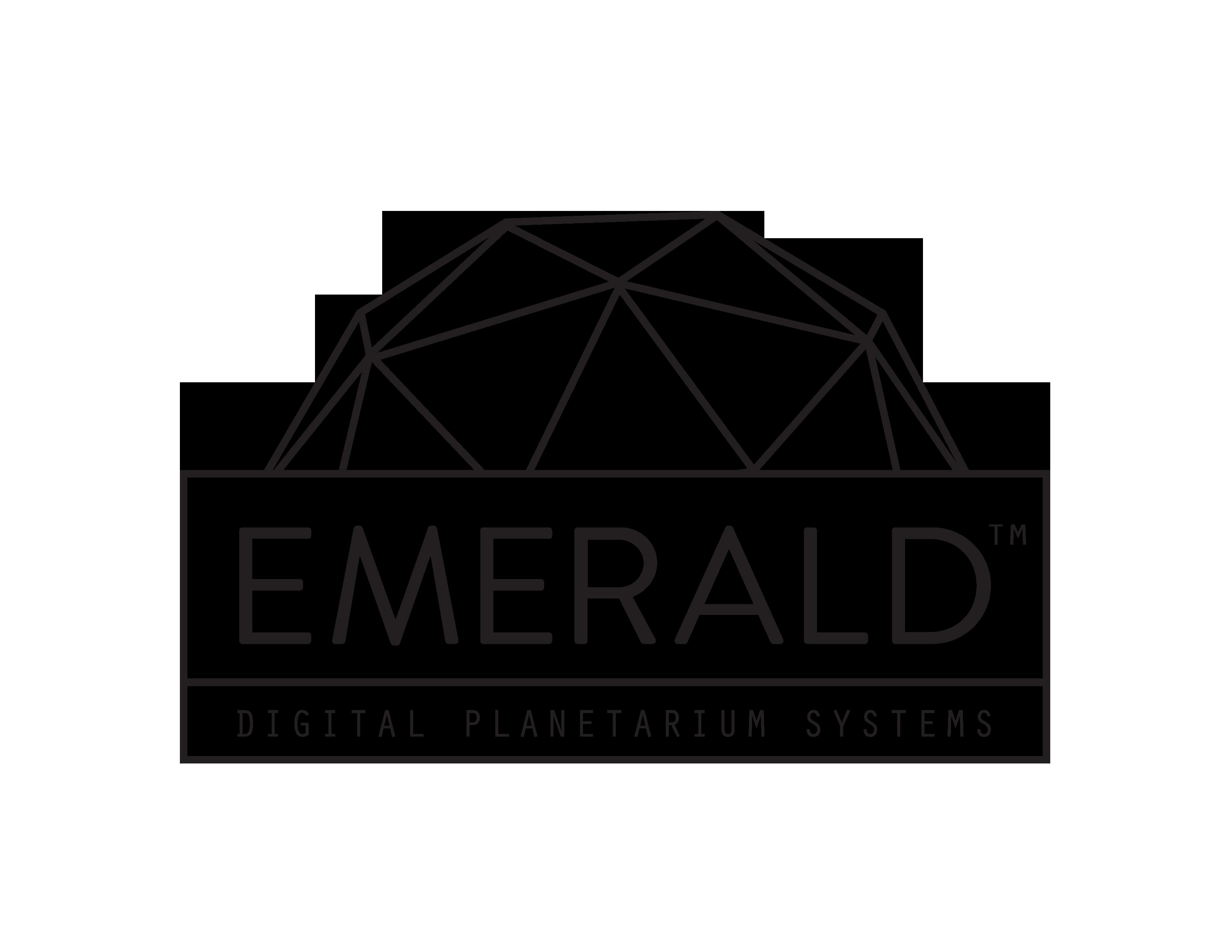 emerald logo white border